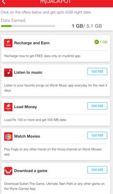 Airtel 5Gb Night data with Airtel Jackpot offer | DesiDime