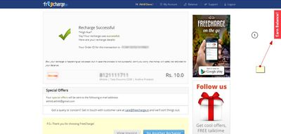 Freecharge freefund code of Rs 10 for free | DesiDime