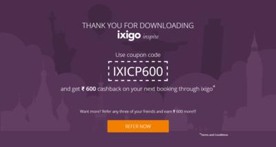 Install google chrome extension of Ixigo and get 600 cashback on