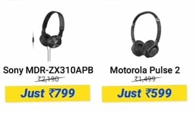 da1761c30d1 Motorola Pulse 2 Headset at 599, Sony MDR-ZX310APB at 799   DesiDime
