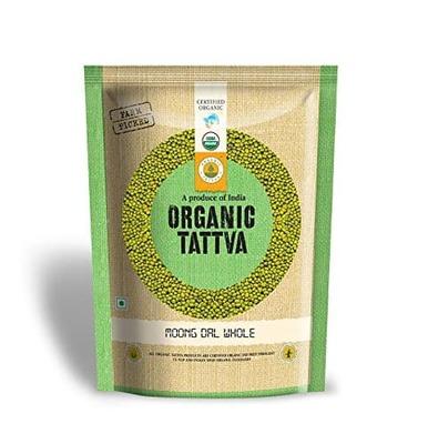 Organic Tattva Moong Dal Whole, 500g low price