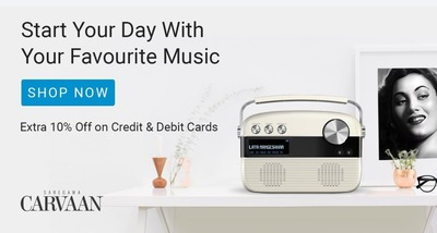 Extra 10% Off on Credit and Debit Card maximum of INR 599 on