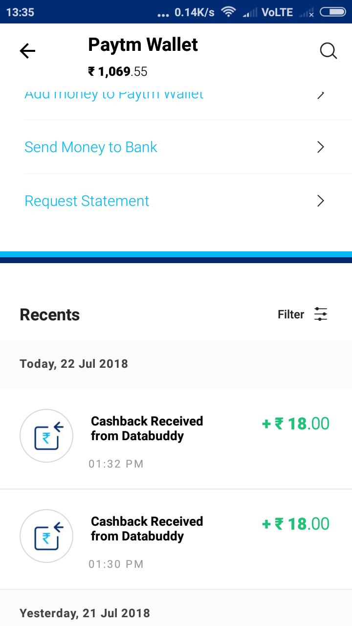 Databuddy app loot offer(Direct Paytm cash) | DesiDime