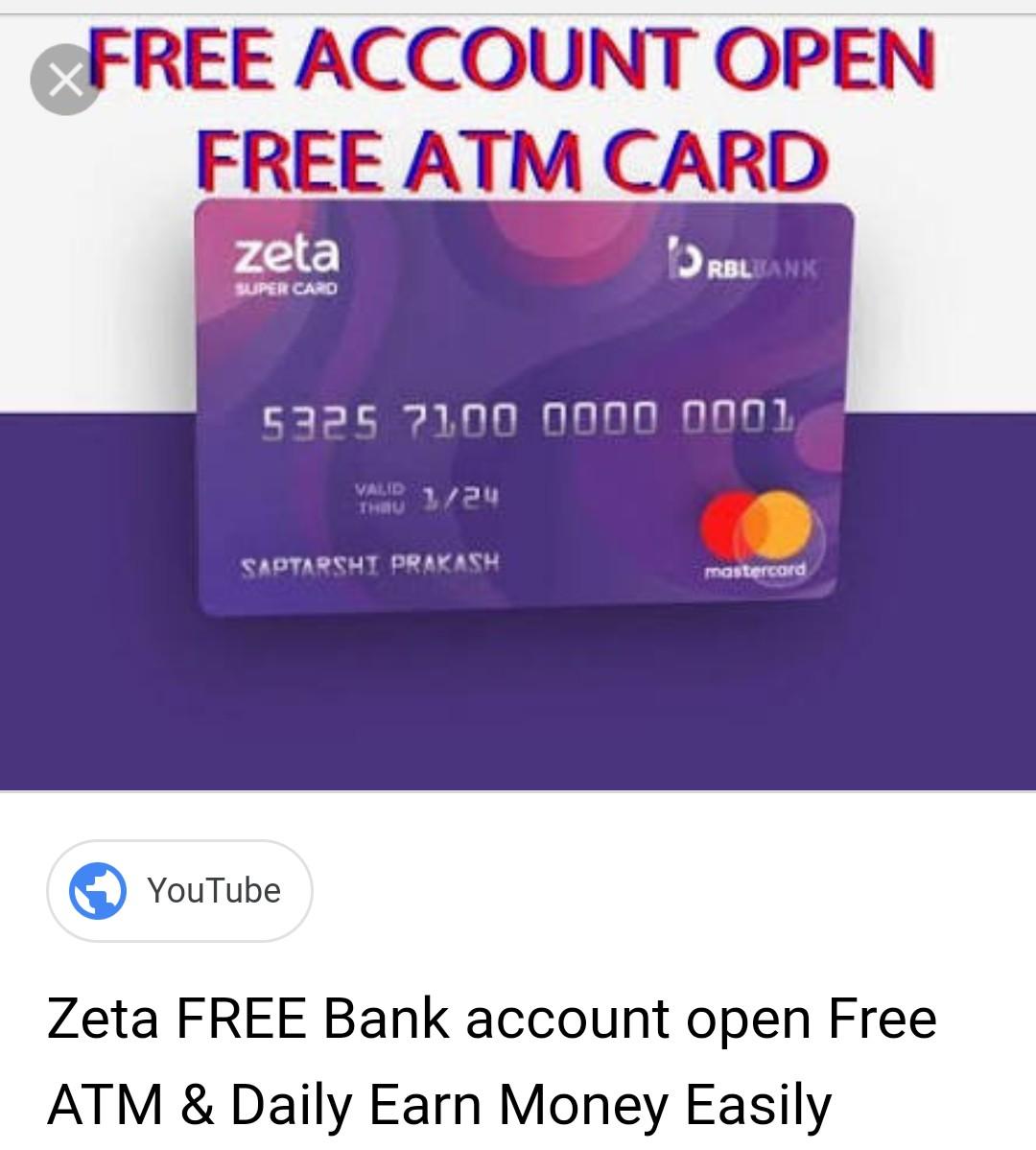 Open Zeta Free Bank Account & Free ATM card | DesiDime