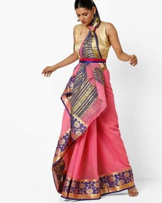 https://cdn0.desidime.com/attachments/photos/525521/medium/5153415ishaya-chanderi-cotton-saree-with-contrast-zari-border.jpg?1533210570