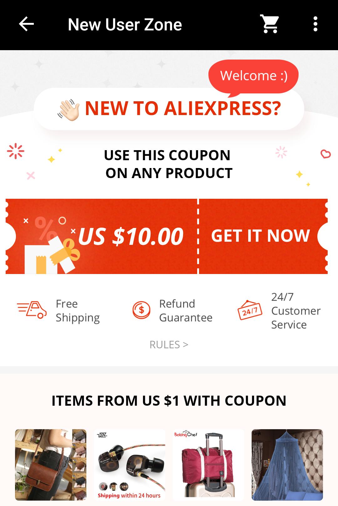 coupon aliexpress 20$