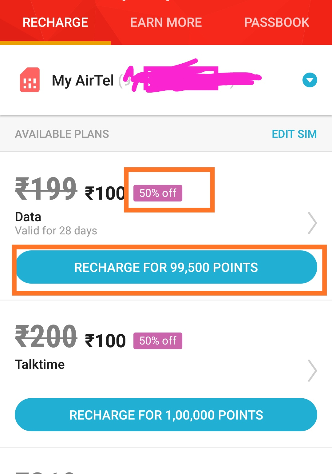 Mcent browser Now offering 50% Discount on Recharge Plans | DesiDime