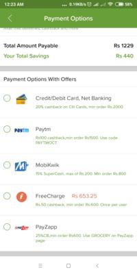 Bigbasket :- Get 25% Cashback upto 250₹ with min