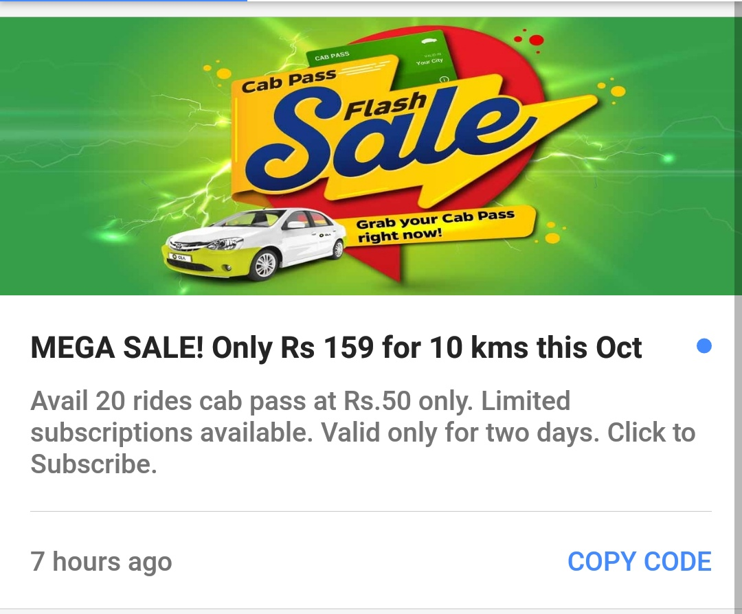 mega cabs hyderabad coupons
