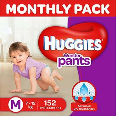 huggies wonder pants medium size diapers monthly pack 152 count