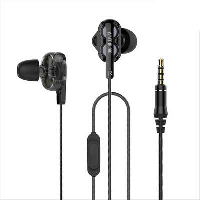 c8b1140f9a7 Ant Audio Doble W2 Dual Driver Wired in-Ear Headset (Black)   DesiDime