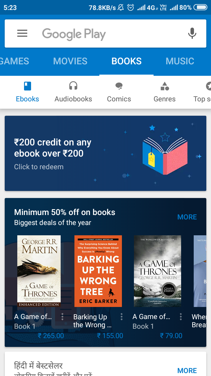 how to get free books from google play store
