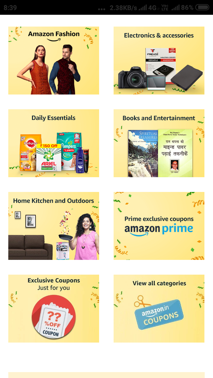 FREE:- Amazon All Discount Coupon : Collect & Save Extra 20% On your  Shopping