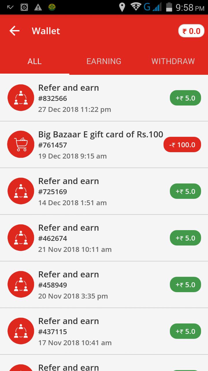 Verified VidStatus App refer & earn : Get Signup 50 Rs & Per refer 5