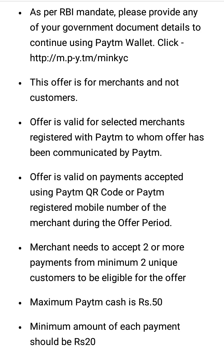Paytm Merchant: Get Rs 50 Cashback On Accept 2 Payments