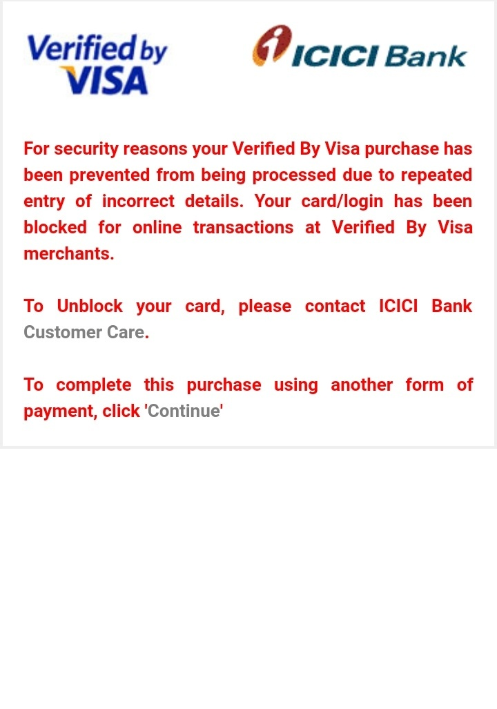 icici debit card online transaction blocked