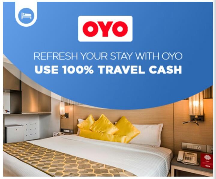Goibibo : Use 100% Travel Cash With OYO Hotel Booking | DesiDime