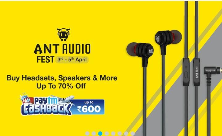 23c48df578e Paytm : Ant Audio Fest (Headset Speaker & More) Upto 70% OFF + Upto ...