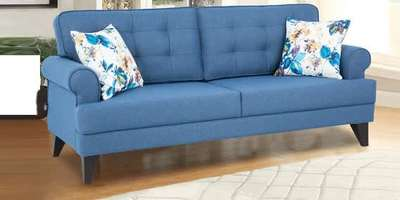 Miller Three Seater Fabric Sofa In Bluecolour By Hometown 70 Off