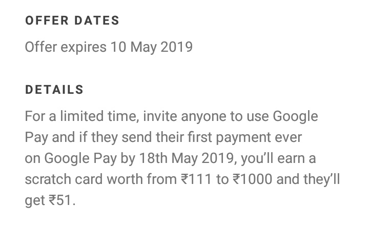Google Pay : Get Scratch Card 111 to 1000 When Friend Send Their