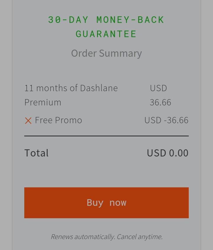 Dashlane Password Manager Premium Free for 11 months 2300