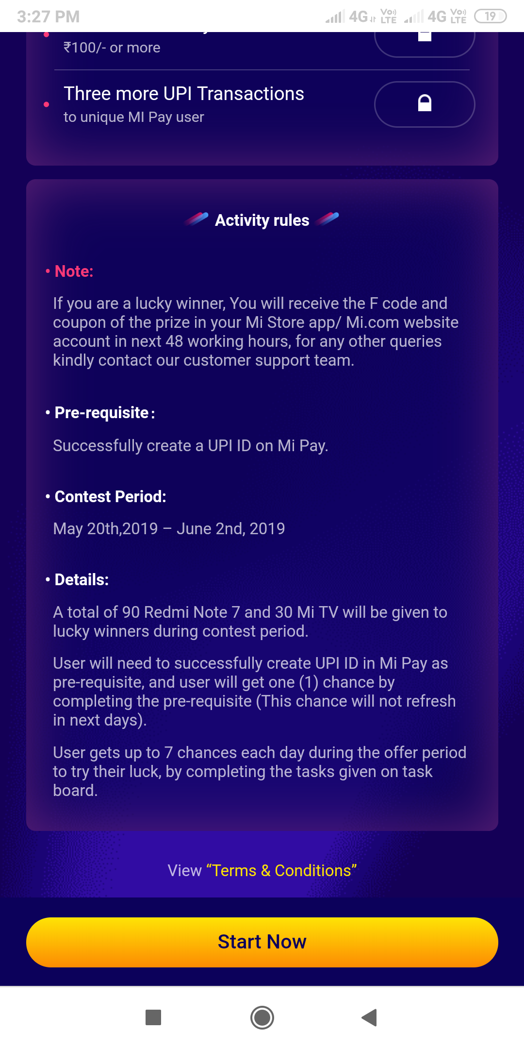 Mi Pay Offer : Create UPI ID & Get a Chance to Win Redmi