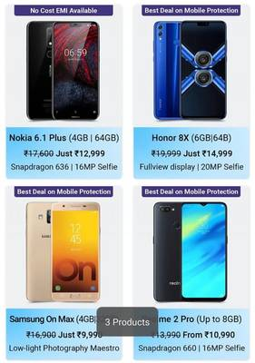 Flipkart Month End Mobiles Fest 27-31 May :- Lowest Prices on Ur