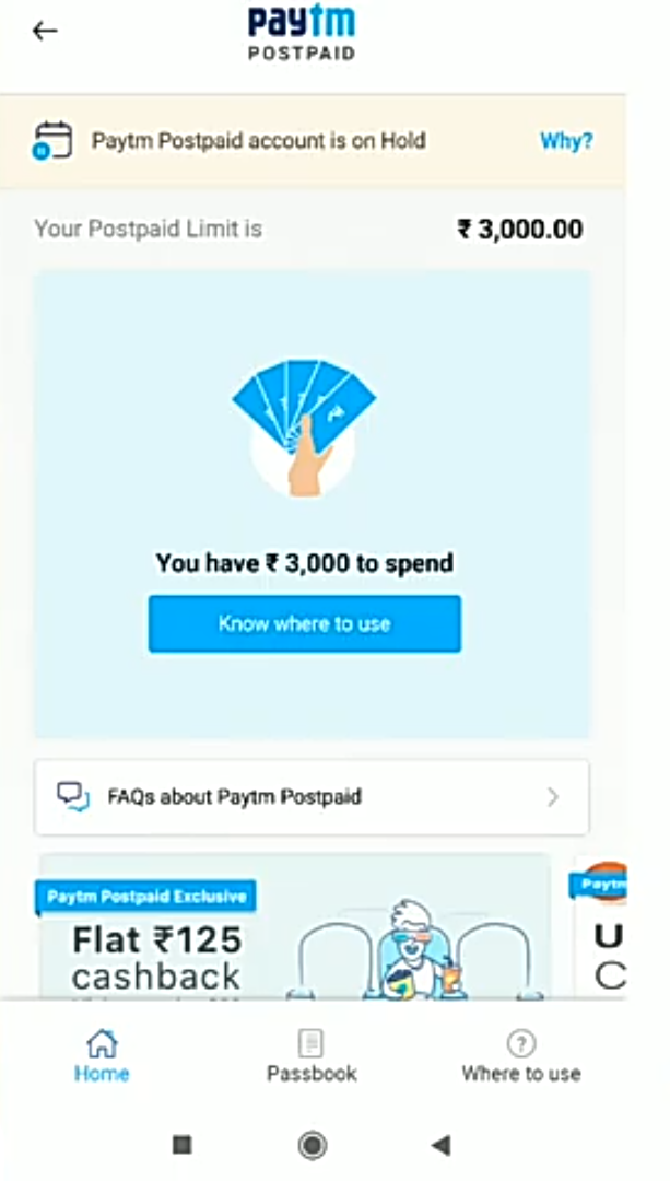 Paytm Postpaid On Hold   | DesiDime