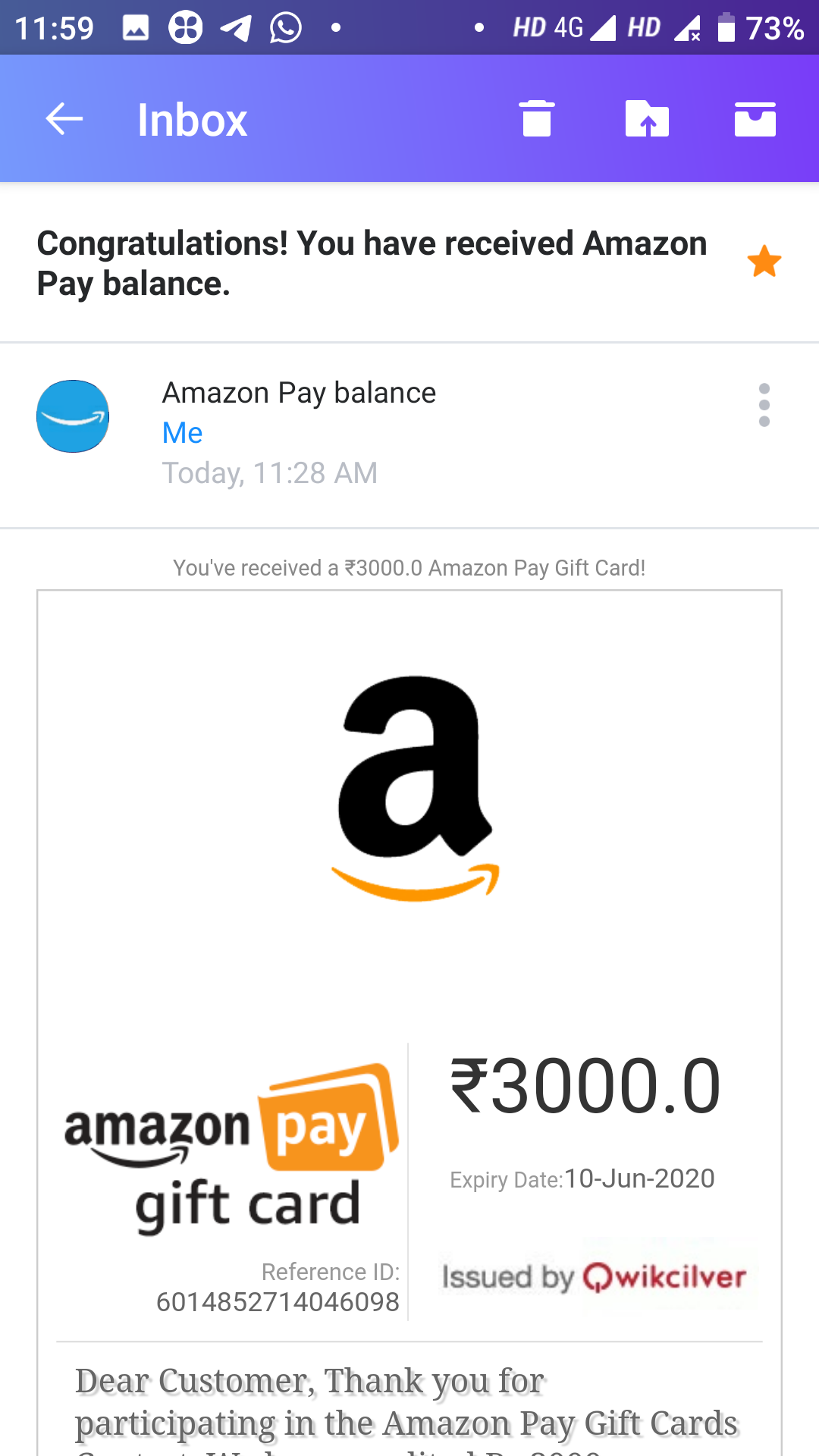 Send an Amazon Pay Email Gift Card to your loved ones to be