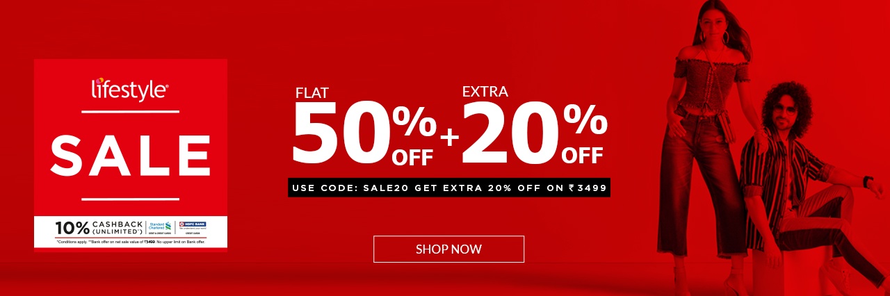 aaf95ebf2acc9 Lifestyle EOSS - 50% Off + Extra 20% off (10% cashback via HDFC and ...
