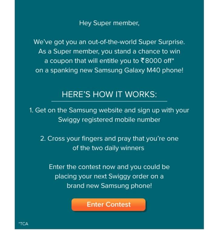 Swiggy Super Samsung :Chance To Get Flat 8000 OFF On Samsung