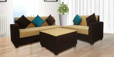 Sweden Sectional Sofa with Center Table in Beige & Brown ...
