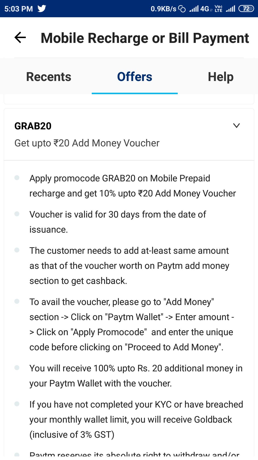 new promo code- GRAB20 TO ADD MONEY | DesiDime