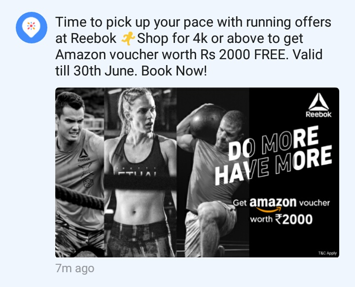 bdd9863c6f11d Get 2000 assured Amazon Voucher on purchase of 4k at Reebok showroom via  Magic pin