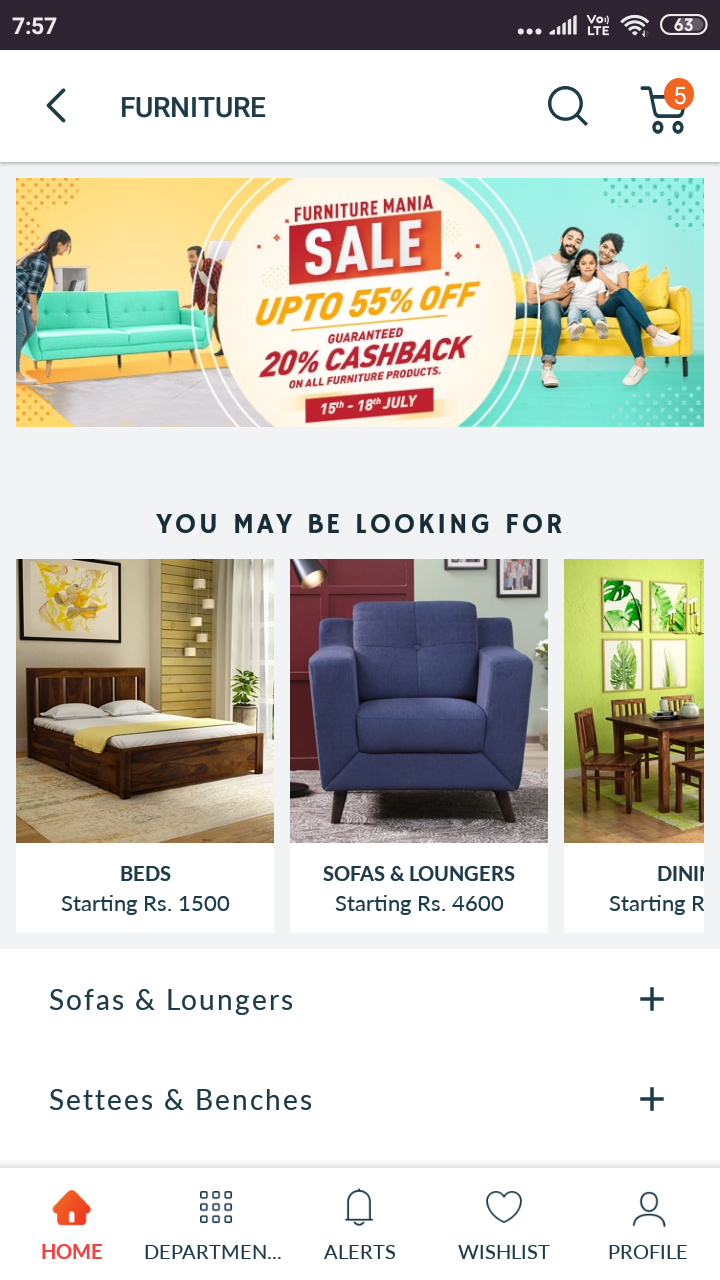 Furniture Mania Pepperfry Flat 55 Off On Select Furniture S And