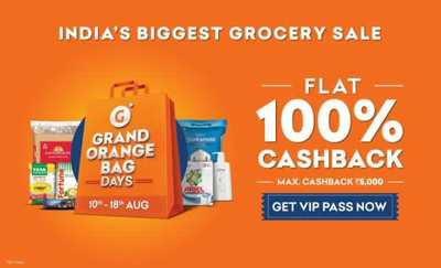 INDEPENDENCE DAY LOOT | Buy Grofers VIP Pass at Rs.15 (After PW Cashback)