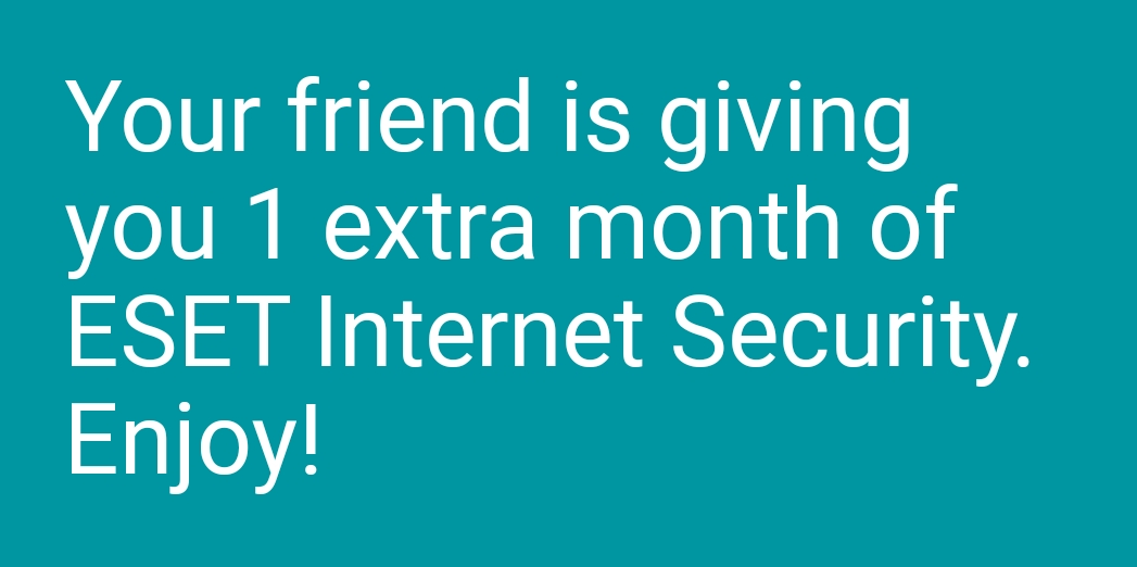 Download a FREE 30-day trial + 1 extra month Eset Internet