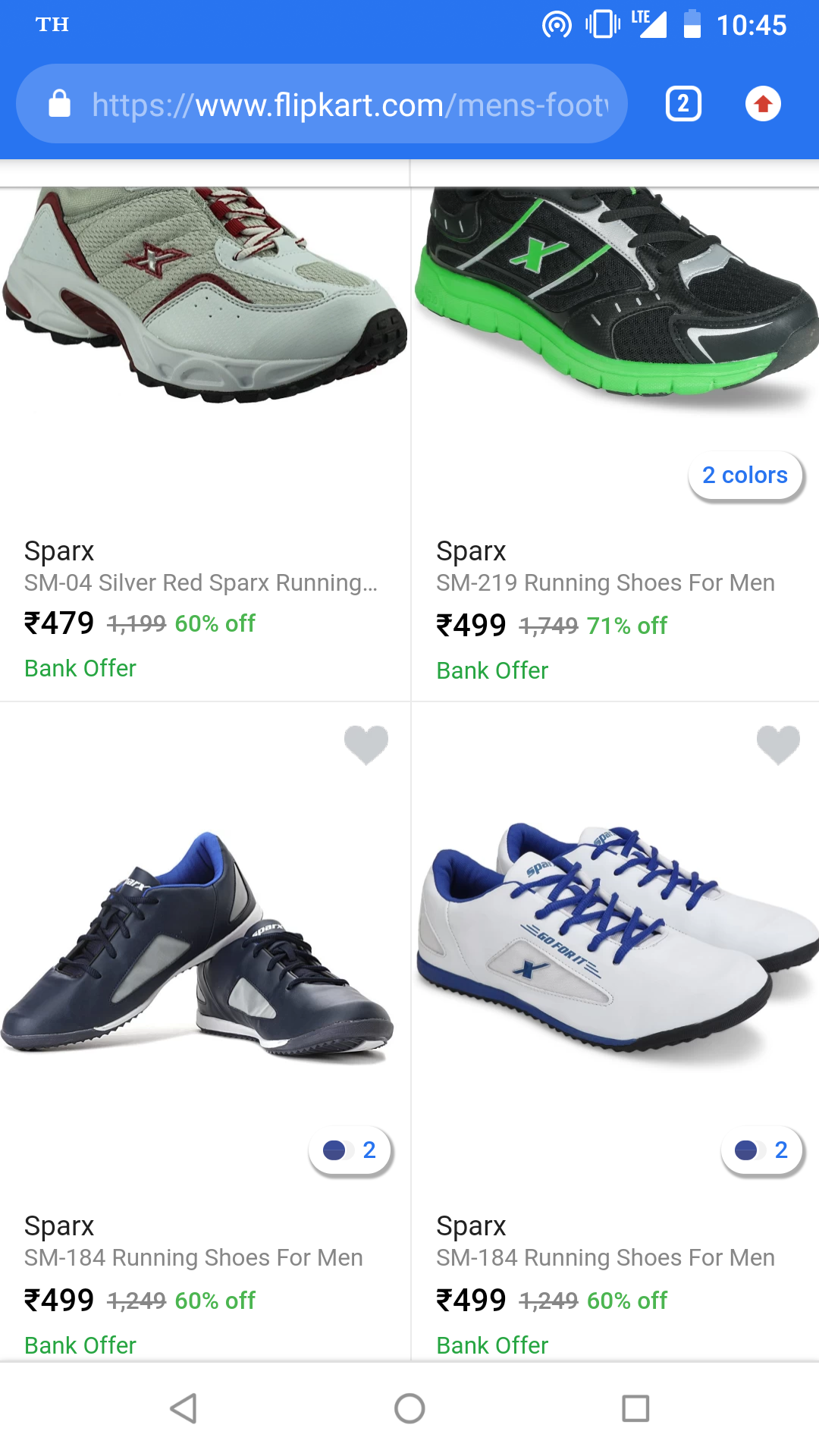 Sparx shoes Flat 60% off from 479 Rs