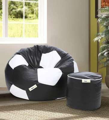 Brilliant 50 Off Combo Football Xxl Bean Bag With Beans Filled Machost Co Dining Chair Design Ideas Machostcouk