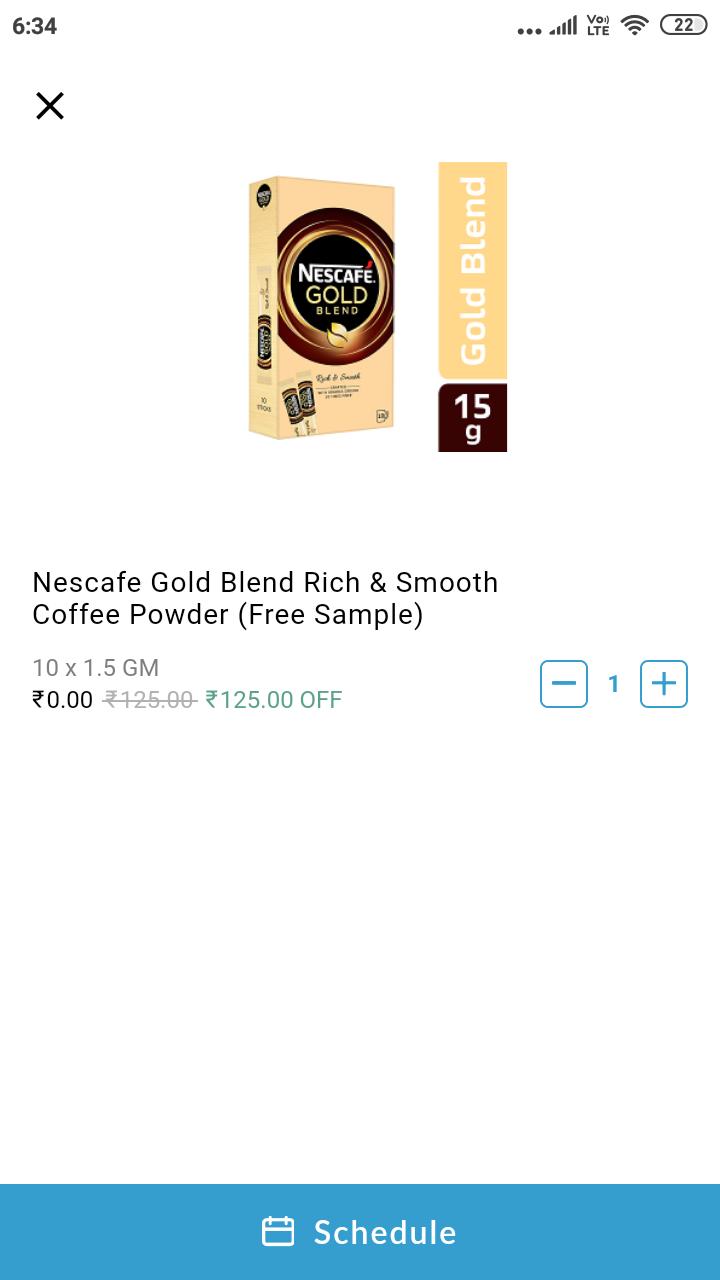 Nescafé coffee sachet worth 125 free @ Milkbasket | DesiDime