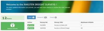 rakuten insight surveys