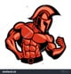 Stock vector spartan muscle posing 242913406