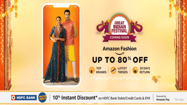 fashion offers in amazon great indian festival sale 2020