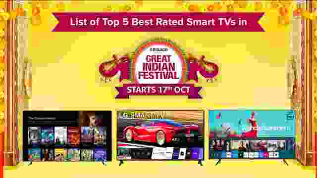 List of Top 5 Best Rated Smart TVs on Amazon Great Indian Festival Sale 2020