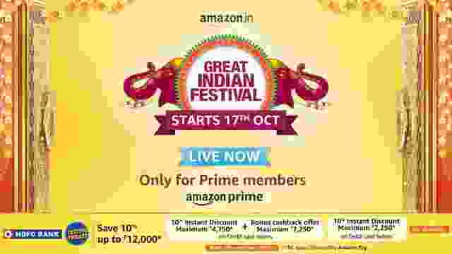 amazon great indian festival sale live now