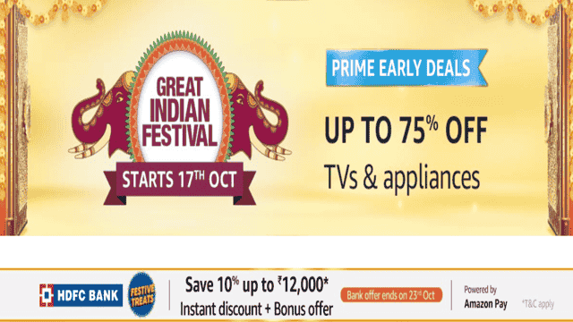 Grab the Best Deals on TVs & Appliances during Amazon Great Indian Festival Sale 2020 Here!