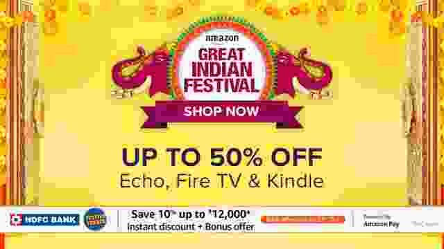 Save upto 50% on Echo, Fire TV, and Kindle Gadgets on Amazon Great Indian Festival Sale