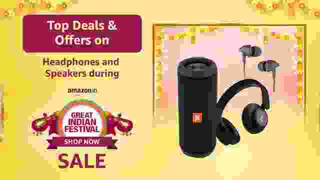 Top Deals & Offers on Headphones and Speakers during Amazon Great Indian Festival Sale