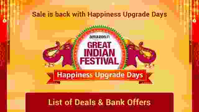 Amazon Great Indian Festival Sale is back with Happiness Upgrade Days - List of Deals & Bank Offers