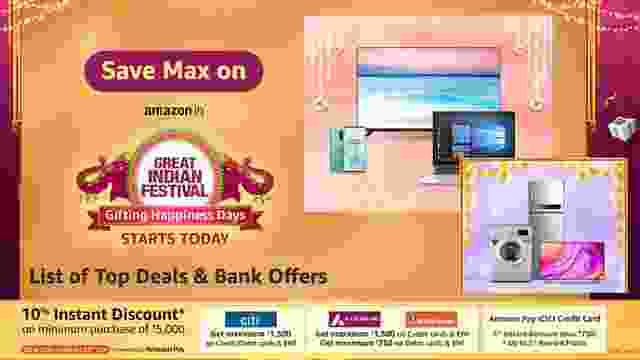 Save Max on Amazon Great Indian Festival Sale with Gifting Happiness Days: List of Top Deals & Bank Offers